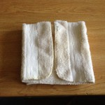Fold the napkin in half