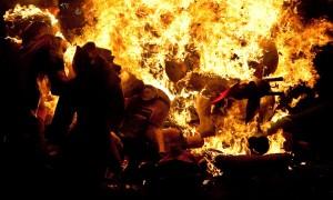 Burning monigotes - photo by Alexandra Yost