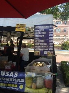 Pupusa Stand at the USC Farmer's Market